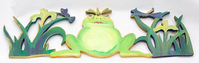 #22 Frog with Dragonflies