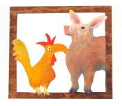 Pig and Rooster - SOLD