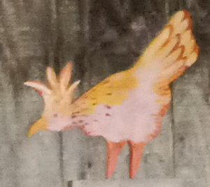Painting of chicken