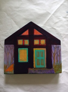 painting of tiny house