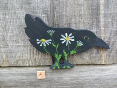 #42 Crow with Daisies