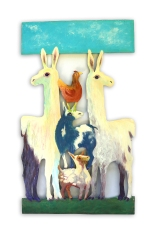 #36 Llama pair with stacked animals